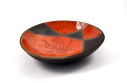 piatto rosso raku
