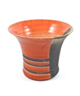 vaso raku arancio