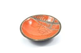 Piatto arancio raku