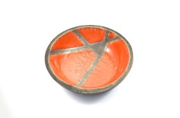 Piatto raku arancio