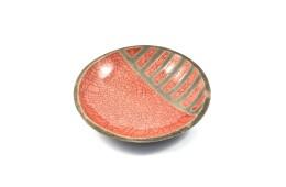 Piatto raku rosso