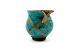 piccolo vaso turchese raku