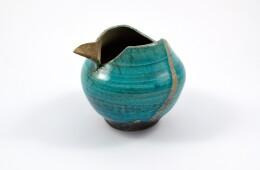 Vaso raku turchese